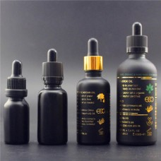 30ML (1 oz) Black Glass Bottles For Essential Oils Refillable Empty Makeup Cosmetic Bottle With Dropper And Cap