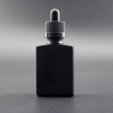 30ml Eliquid Vape Oil Matte Black Square Glass Perfume Bottle With Dropper Lid