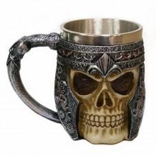 Double Wall Stainless Steel Skull Coffee Mug Viking Skull Halloween Gift Beer Mugs