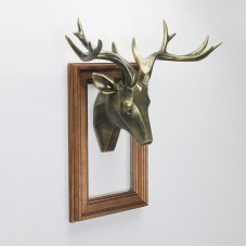 Beautifully  And Crafted Resin Wall Sculptures Buck Deer Head Bust Wall Decoration Hanging