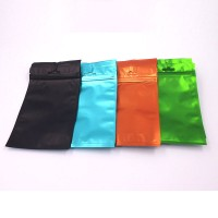 Colorful Flat Bottom Zip Lock Aluminum Foil Pouch Bag