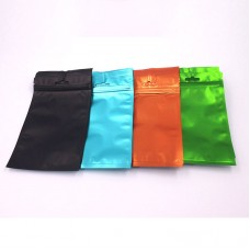 Colorful Flat Bottom Zip Lock Aluminum Foil Pouch Bag