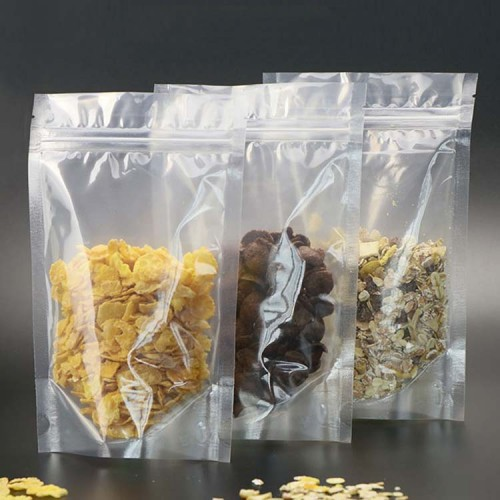 Resealable Zipper Stand Up Pouch Clear Transparent Plastic Packaging Bags Wholesale