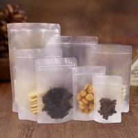 Resealable Stand Up Pouch Clear Transparent Plastic Matte Ziplock Packaging Bags