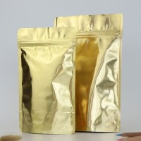 High Quality Glossy Gold Aluminum Foil Stand Up Pouch Wholesale