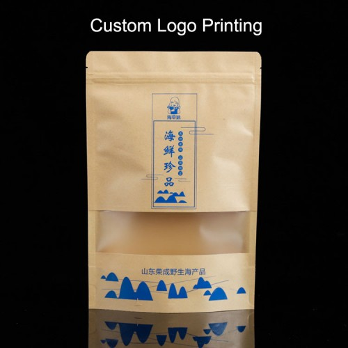 Custom Design Printed Stand Up Pouches Packaging Wholesale -- Hot Stamping Gold, One Color, Full Color Printing