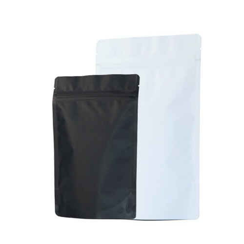 Matte White And Black Stand Up Pouch Aluminum Foil Packaging Bags Hot Selling