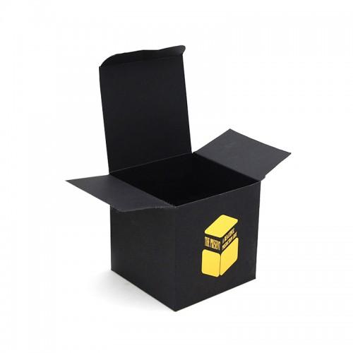 Matte Black Paper Box With Custom Gold Logo Hot Stamping