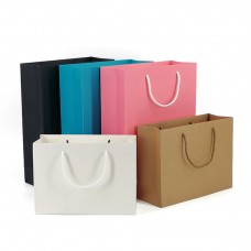 Custom Branded Paper Bag For Clothes Shopping Gifts Packaging