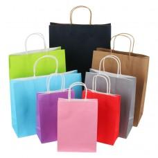 Custom Colours Thin Kraft Paper Shopper Bag For Packaging