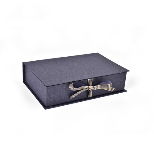 Elegant Book Shape Storage Packaging Gift Box With Elastic Binding