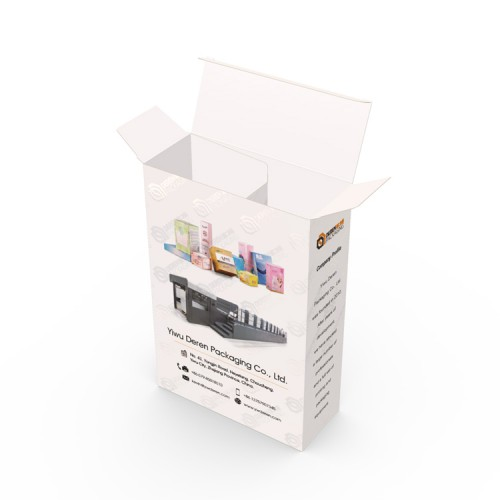 High Quality Custom Logo Spot UV Glossy Printing Rectangular Paper Box With Compartments
