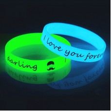 Silicone Bracelet With Glow In The Dark