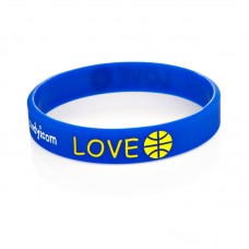 Custom Logo Debossed With Colors Filled Silicone Wristbands