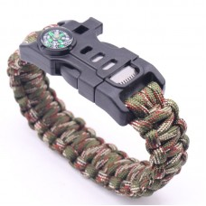 Best Wilderness Survival-Kit Gear Emergency Paracord Bracelet For Camping Fishing And More