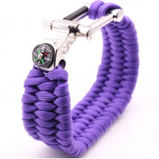 Multi-Function Bottle Opener Survival Paracord Bracelet With Compass