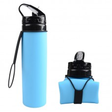 600ml Soft Silicone Foldable Water Bottle