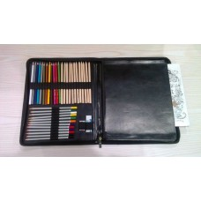 Creative Fidget PU Leather Folder For Colour Penils And Drawing Book