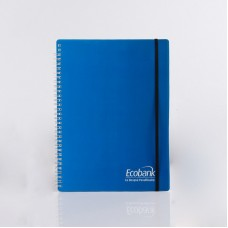 Hard Plastic Cover Spiral Notebook With Elastic Band