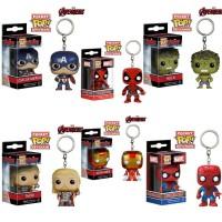 Funko POP Keychain Marvel - Cap America Deadpool Hulk Thor Iron Man Spider-man Action Figures