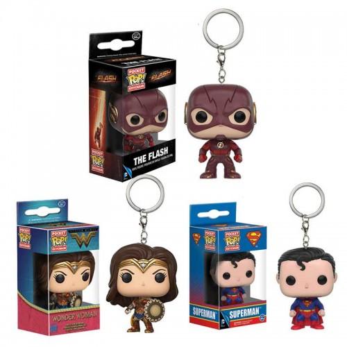 Funko POP Pocket Keychain DC Justice League - Superman The Flash Wonder Woman Action Figures