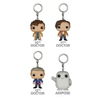 Funko POP Keychain Figures: Doctor Who Set of 4 Figures - Adipose Dr #10 Dr #11 And Dr #12