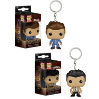 Funko Pocket POP Keychain - Supernatural Dean and Castiel Vinyl Figures