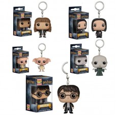Funko Pocket POP Keychain Harry Potter, Hermione Granger, Snape, Dark and Dobby Lord Voldemort