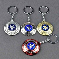 Superheroes Marvel Comics Captain America Civil War Spinning Shield Metal Keychain