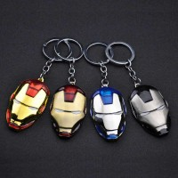 Movie Comics Avengers Marvel Iron Man Mask Metal Keychain Pendant