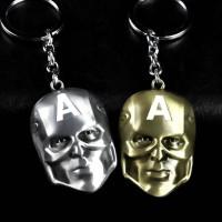The Avengers Marvel Movie Comics Superhero Metal Alloy Captain America Mask Keychain