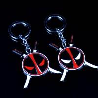 Marvel Comics Movie Deadpool Swords Metal Pendant Keychain