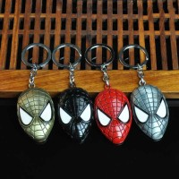 Marvel Movie Comics The Amazing Spider-Man Mask Alloy Pendent Keychain