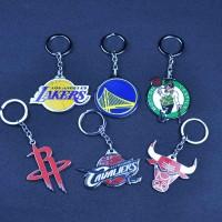 NBA Club Basketball Team Logo Metal Pendant Keychains - The Lakers, Houston Rockets, Chicago Bulls, Cleveland Cavaliers, Golden State Warriors, Boston Celtics