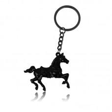 Alloy Silver Pendant Creative 3D Horse Steed Run Bag Keychain