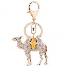 Crystal Rhinestone Shiny Camel Keychain