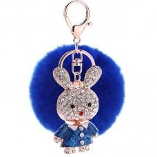 Cute Rabbit Crystal Rhinestone Pendant Sparkling Charm Bunny Keychain