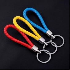 Loop Handmade Leather Braided Lanyard Keychain