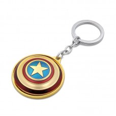 Metal Alloy Captain America Spinning Shield Keychain