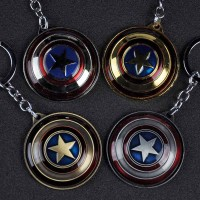Cheap Wholesale Marvel Comics Spinning Captain America Shield Keychain