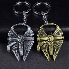 Star Wars New Millennium Falcon Metal Alloy Bottle Opener Keychain