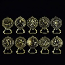 Game of Thrones House Sigil Crest Bottle Opener Keychain - Stark Direwolf, Lannister, Targaryen Dragon, Baratheon, Arryn, Tully, Greyjoy, Tyrell, Martell