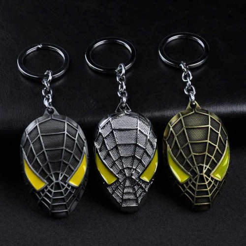 Marvel Spiderman Colored Head Keychain