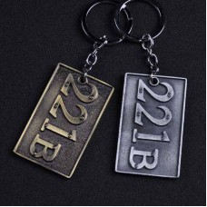 221B Baker Street Sherlock Holmes Consulting Detective 1881 to 1904 Keychain