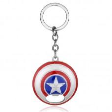 Marvel Captain America Shield Bottle Opener Metal Keychain