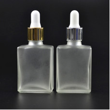 15ml and 30ml 1oz frosted Square Glass Dropper Bottles Wholesale