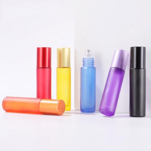 Premium Colourful Transparent Matte Gemstone Roller Bottles For Essential Oil 5ml 10ml