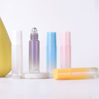 Gradient Colour White Pearl  Roll On Bottles For Cosmetic Serum Hot Selling