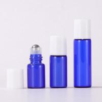 Small Blue Glass Oil Roller Bottles Wholesale 1ml, 2ml, 3ml, 5ml