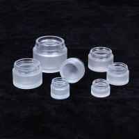Cheap Frosted Glass Containers Custom Logo Printing 5g 10g 15g 20g 30g 50g 100g